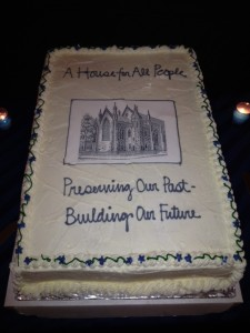 Grace Episcopal - kick-off cake