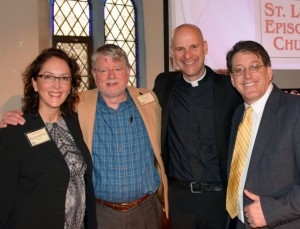 Co-Chairs Liz Perez and Tom Cochran, Rev. John Mennell and Campaign Director Mel Kalagian
