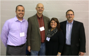 From Left: Principal Kevin Creutz, Co-chairs Jon & Carolyn Meyer, WD&R Consultant Steve Siegel