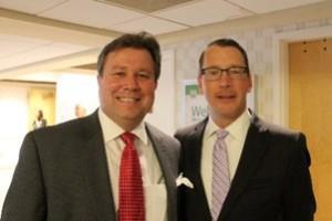 JDKlote Consultant Glendon Smith (left) and Reverend Dr. Scott K. Seidler, Senior Pastor (right)