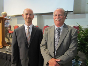 Senior Pastor Dr. Nate Leonard and JDK&A campaign director Jim Collins