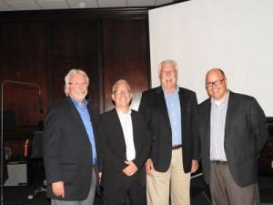 Campaign Director Glenn Wagner, Co-Chair Andy Kraft, Co-Chair Jack Huevelman, Senior Pastor Mark Milatz