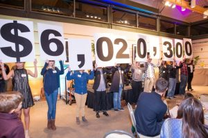 Campaign pledge total announced during the Kick-Off Event