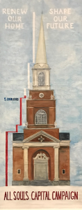 Steeple Progress Chart to show over $5.3 million raised!